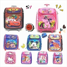 Cartoons Girl & Boy Backcare 6 wheels Trolley School Bag Backpack
