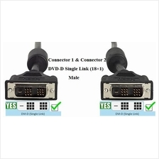 DVI Cable (1M/2M/3M/5M-any Meter or FT) CE Ready!