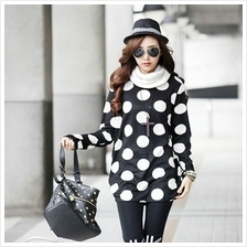 DOT LONG TOP WHITE WT4099
