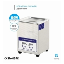 2L 60W Digital Ultrasonic Cleaner Heater Bath Timer Lab Industry