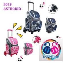 Astrokid 6 Wheels Trolley Kid School Bag Primary Backpack Lightweight