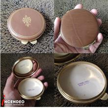 **incendeo** - Vintage Italy Leather Compact Makeup Mirror Case