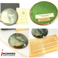 **incendeo** - Vintage Glass Paperweight Portrait of His Mother