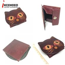 **incendeo** - Cat Leather Coin Purse
