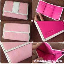 **Incendeo** - Authentic C O A C H Pink Triple-fold Leather Purse