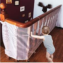 Winkeyes Children Safety Rail Balcony Stairs Safety Net Banister Stair Net for
