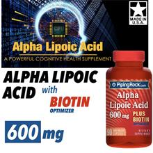 Alpha Lipoic Acid 600mg + Biotin Optimizer 90 Caps (Antioxident) USA