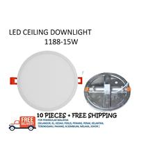 LED PANEL DOWNLIGHT R1188 15W - 10 PIECES + FREE SHIPPING