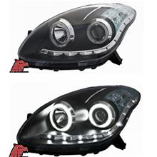 EAGLE EYES Perodua Myvi CCFL Ring Projector Head Lamp LED Daylight