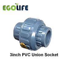 3inch PVC Union Socket, Irrigation PVC Pipe Fitting Joiner