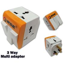 KSE 3 Way Multi Universal Adapter With ON/Off Switch