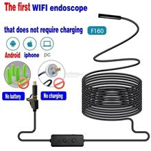 NEW 3in1 8mm 2/3 5/5M WIFI Endoscope Inspection Camera Hard Cable iOS