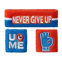 WWE John Cena Hustle Loyalty Respect Sweatband Set