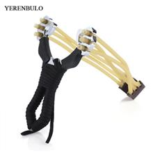 YERENBULUO HUNTING STAINLESS STEEL POWERFUL SLINGSHOT CATAPULT (BLACK)