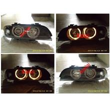 BMW E39 `95-02 Head Lamp Crystal Chrome/Black W/Projector+Rim+Motor