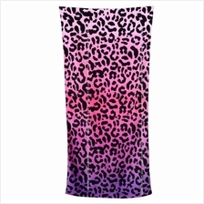Leopard First Grade Cotton Large Beach Towel 160cm x 76cm