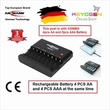 Ansmann Powerline 8 Charger -GERMAN TECHNOLOGY- 3 Year Warranty