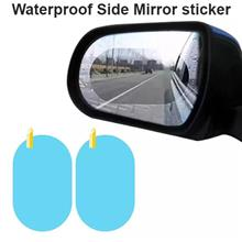 Rain Water Proof Film Rear View Side Mirror Sticker (Pair)