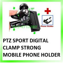 PTZ Sport Digital Camera Accessories Tripod Clamp Mobile Phone Holder