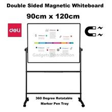 900x1200mm  DELI 7882 Double Sided Magnetic White Board 3'' x 4''