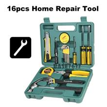 Portable 16pcs DIY Hand Car Home Fix Repair Tools Box Kit Set