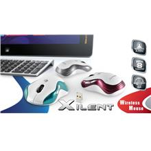 CLIPTEC XILENT 2.4GHz WIRELESS OPTICAL MOUSE (RZS847) BLUE/MAROON/SIL