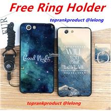 Buy 2 Free 1 @ OPPO R1C R1X Cartoon Back Case Cover Casing + Ring