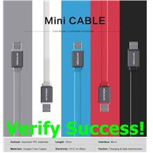 ORIGINAL Nillkin Mini 30cm Short Micro USB Cable Samsung S7 S6 ~2.1A