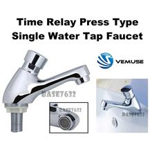 Time  Delay Automatic Press Self Closing Single Water Tap Basin Faucet