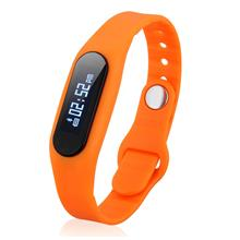 E06 SMART WRISTBAND BLUETOOTH 4.0 WATCH IP67 REMOTE CAMERA (ORANGE)
