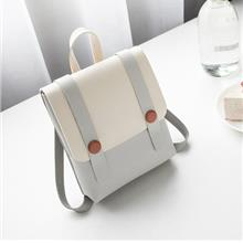 Women Korean Fashion Ladies Magnetic Buckle Retro College Backpack