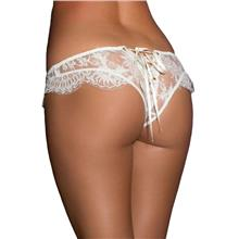 CELLY Plus Size White Ribbon Eyelashes Lace Panty (CSOH P5138P)