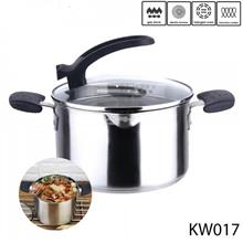 22 CM STAINLESS STEEL FLAT SOUP POT KW017