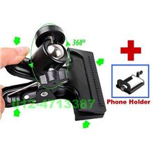 *PTZ Sport Digital Camera Accessories^Tripod Clamp Mobile Phone Holder