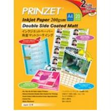 Prinzet Photo Paper A4 200gsm Double Side Coated Matt, 20 Sheets
