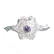Exclusive Purple CZ 925 Sterling Silver - BRS718