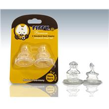 Fiffy Silicone Teats c/w Anti-Colic Vent for (0-3 Mths) - A18239