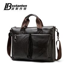 Bostanten 100% Cow Leather Handbag Messenger Shoulder Briefcase Bag