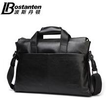 100% Bostanten Cow Leather Handbag Messenger Shoulder Briefcase Bag