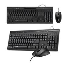 Rapoo NX1710 Wired Optical Mouse & Keyboard Combo Set USB - Black
