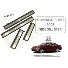 Honda Accord 2008 Stainless Steel Blue LED Door Side Sill Step Plate