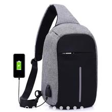 Anti Theft Crossbody Bag Sling Chest Waist bag (With USB port)