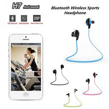 H7 Bluetooth Wireless Sports Headsets Stereo Earphone with Mic