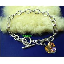 SWAROVSKI CRYSTAL Toggle Bracelet 6202 Crystal AB 14mm
