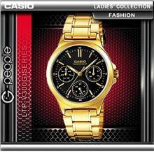 CASIO LTP-V300G-1A LADIES MULTI-HAND WATCH ☑ORIGINAL☑