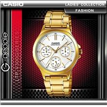 CASIO LTP-V300G-7A LADIES MULTI-HAND WATCH ☑ORIGINAL☑