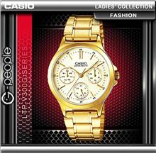 CASIO LTP-V300G-9A LADIES MULTI-HAND WATCH ☑ORIGINAL☑