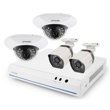 Zmodo 4 Ch 720p NVR with 4 HD Indoor/Outdoor IP Cameras ZM-SS76D9D4-SC