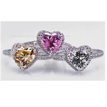 Love Zircon Diamond Ring PINK US6