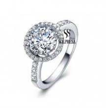 Solpresa Diamond Heart Super Flash Diamond Ring